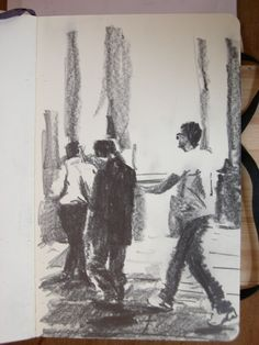 Moleskine J #037 graphite pencil drawing