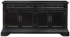 """Bufford Cabinet, 4 DOOR, ANTIQUE BLACK by Home Decorators Collection. $689.00. 4-Door: 35""""H x 68.25""""W x 15.5""""D.. 2-Door: 35""""H x 34.25""""W x 12.75""""D.. Our Bufford Cabinet lets you customize the antique charm it brings to your living or dining room. Pick the finish and size that work best with your space. With its vintage styling and classic metal hardware, this piece will be a mainstay in your home for years to come. Your choice of size and finish. 2-door model has..."""