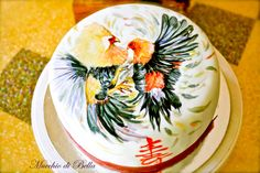 Rooster Fight - Cake by Mucchio di Bella