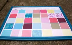 paint chip dry erase calendar