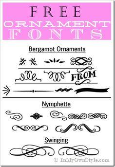 Free Decorative-Ornament-Fonts