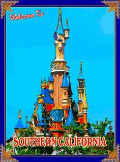 Anaheim Southern California Disney United States Travel Advertisement Poster
