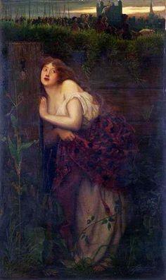 Pre Raphaelite Art: Valentine Cameron Prinsep, The Flight of Jane Shore 1855