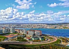 A Coruña. Dende a Torre de Hércules. Galicia. Spain.