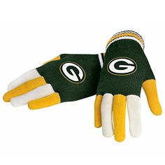 NFL Football 2014 Multi Color Team Logo Knit Gloves - Pick Team (Green Bay Packers) Forever Collectibles