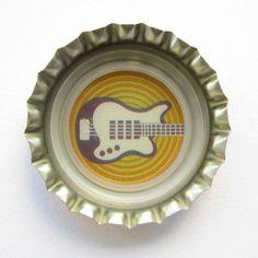 Coca-Cola Brasil promotional guitar bottle cap.