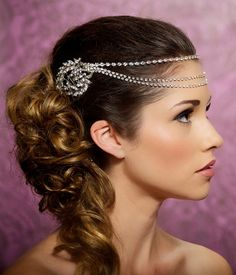 Rhinestone Headband Crystal Headband crystal by GildedShadows, $108.00