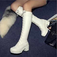 Women 039 s Shoes Round Toe Chunky Heel Knee High Boots More Colors Available Women 039 s Shoes Round Toe Chunky Heel Knee High Boots More Colors Available USD 39 99 Low Heel Ankle Boots, Knee High Boots, Heeled Boots, Top Shoes, Cute Shoes, Women's Shoes, Kawaii Shoes, Martin Boots, White Boots