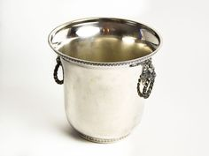 TAKE 10% OFFL Vintage French Silver-Plated Champagne Bucket by CandleLibrary on Etsy