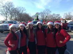 Smyrna Hotties at the Christmas Parade 2014