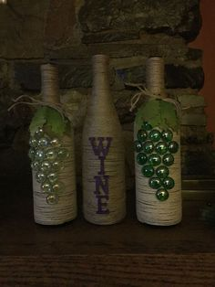 Shipping Wine To Canada Key: 3568729365 Recycled Wine Bottles, Wine Bottle Corks, Painted Wine Bottles, Diy Bottle, Twine Wine Bottles, Wine Glass Crafts, Wine Craft, Cork Crafts, Wine Bottle Crafts