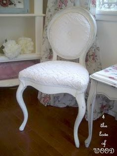 VINTAGE CHENILLE - reupholstered french chair