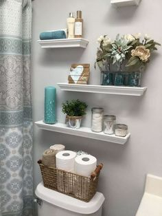 bathroom floating shelves design to save space - in a small ., bathroom floating shelves design to save space - finding a storage atmosphere in a small bathroom doesn't have to be a chore. Budget Bathroom, Small Bathroom Storage, Bathroom Decor, Bathroom Decor Apartment, Amazing Bathrooms, Trendy Bathroom, Bathrooms Remodel, Bathroom Towel Storage, Bathroom Storage