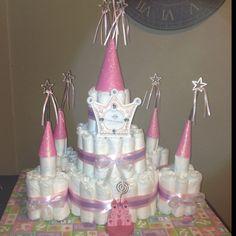 Princess Castle Diaper cake...this SCREAMS Dana Altenbernd!