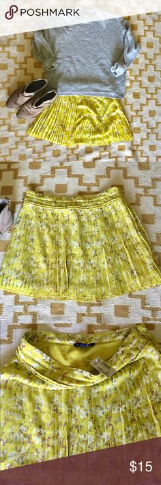 """American Eagle skirt. NWT! American Eagle Outfitters pleated mini skirt. Waist measurement is 14"""".   ***If you have ANY questions at all - measurements, fabrication, item condition, etc. - PLEASE ASK 👍 It's important to me, that you, as the customer, are 100% clear about the product you are purchasing. Happy to answer ANY questions big or small! American Eagle Outfitters Skirts"""