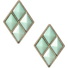 Yoins Rhombus Stud Earrings-Green ($4.03) ❤ liked on Polyvore featuring jewelry, earrings, yoins, stud earrings, green, green jewelry, stud earring set, bullet stud earrings and bullet earrings