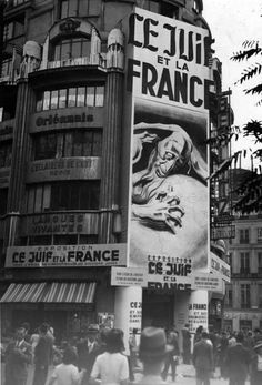 """Paris, Propaganda gegen Juden"" by Das Bundesarchiv on Wikimedia Commons, pin by Paolo Marzioli"