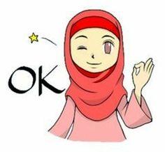 She is NANA.I'm glad to use this stickers Indonesian and Malaysian. Cartoon N, Hijab Cartoon, Cartoon Stickers, Hijab Drawing, Anime Muslim, Line Store, Line Sticker, Doa, Disney Characters
