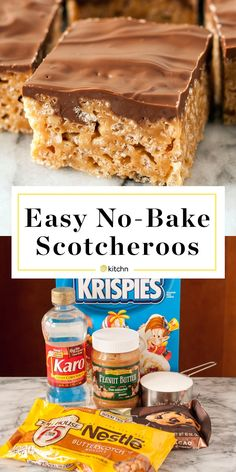 The BEST Peanut Butter Scotcheroos Recipe Made with rice krispies or chex special k cornflakes or cheerios semi sweet chocolate chips butterscotch chips corn syrup and pe. Köstliche Desserts, Delicious Desserts, Dessert Recipes, Desserts For A Crowd, Rice Recipes, Brunch Recipes, Recipies, Cereal Treats, Rice Krispie Treats