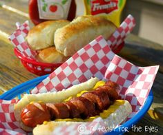 A Feast for the Eyes: Perfect Homemade Hot Dog Buns -- in about an hour!
