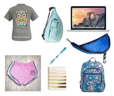 """""""obviously you would either pick the kavu or the Vera Bradley backpack but both were too cute not to include;))"""" by legitmaddywill ❤ liked on Polyvore featuring Vera Bradley, Kavu, Microsoft, Paper Mate and ENO"""