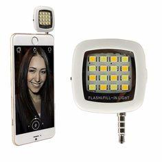 ActionFly Portable Mini 16 LED Night Using Selfie Enhancing Dimmable Flash Light Cellphone Camera Flash Fill-in Light Pocket Spotlight Photo Video Light Lamp Speedlite For Smartphone (White) http://amzn.to/24okGSr #light #vovcyan