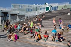 Kjellerup, Denmark, - South Harbour School in Copenhagen is the winner of WAN Education Award JJW Architects, one of Denmark's largest architectural firms, are responsible for the project. South Harbour School is a. Education Architecture, School Architecture, Landscape Architecture, Small Staircase, Social Aspects, Arch Interior, Interior Design, School Community, Construction