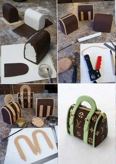 Como hacer una torta  bolso de Louis Vuitton
