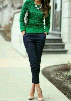 Résultats de recherche d'images pour «look calça verde»