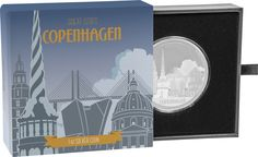 Great Cities Collection - Copenhagen Silver Coin by NZ Mint Proof Coins, Coin Collecting, Silver Coins, Copenhagen, City, Collection, Silver Quarters, Cities