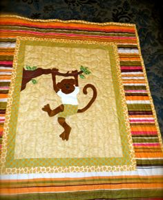 PATTERN  PDF  Monkeys Are People Too  Quilt  Baby by pixieharmony