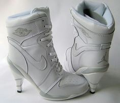 innovative design 85a02 00084 Cheap Women s Nike Air Jordan 1 High Heels Shoes White For Sale