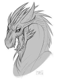 One more dragon doodle by SHADE-ShyPervert on DeviantArt