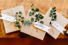 bridesmaid gifts - http://ruffledblog.com/lush-green-wedding-with-a-boho-twist | Emily Wren Photography