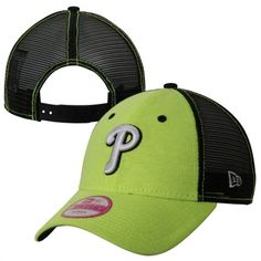 c842ac0ba5b New Era Philadelphia Phillies Ladies 9FORTY Neon Tri-Blend Adjustable  Trucker Hat - Yellow