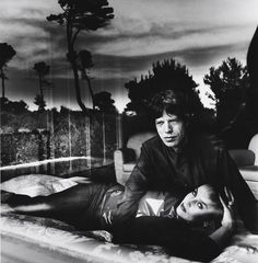 Mick Jagger and Jerry Hall by Helmut Newton 1978. #MickJagger #RollingStones #Jerry Hall