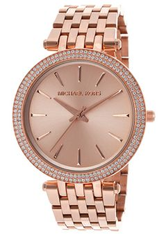 Michael Kors  Women's Rose Gold Tone Dial Rose Gold Tone IP Stainless Steel