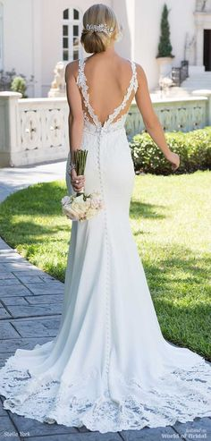 Today we present to you attention amazing bridal gowns from outstanding designer. Each bride will feel like a queen in a Stella York wedding dresses! Wedding Dresses 2018, Affordable Wedding Dresses, Wedding Dress Styles, Bridal Dresses, Stella York, Backless Lace Wedding Dress, Before Wedding, The Dress, Marie