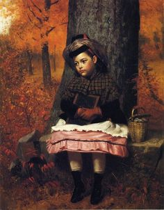 "School-bound"" -- by John George Brown (1831 – 1913, English-born American)"