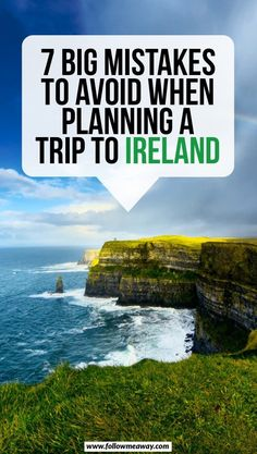7 Big Mistakes To Avoid When Planning A Trip To Ireland If you are planning a trip to Ireland, you are going to want to avoid these huge mistakes! Here's what you should NOT do when planning your trip to Ireland! Fukuoka, Scotland Tourist Attractions, Castle Hotels In Ireland, Ireland Castles, Ireland Travel Guide, Traveling To Ireland, Driving In Ireland, Ireland Camping, Backpacking Ireland