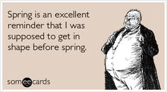 Don't let this be you when Spring arrives ;)
