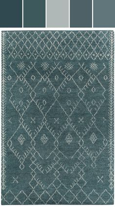 Kasbah Diamond Rug in Aqua Designed By Capel Rugs via Stylyze