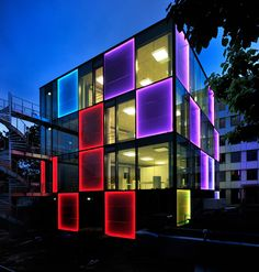 """""""Energy Cube"""" high power solar facade system by Lindner Group [designed by Stadtwerke Konstanz]"""