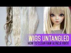 ▶ Wig Making for Dolls - How to Clean Raw Alpaca Fiber - YouTube