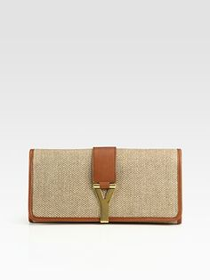 Yves Saint Laurent - YSL Large Nude Patent Leather Clutch - Saks ...