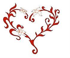Heart Tattoo Design Stencil Art