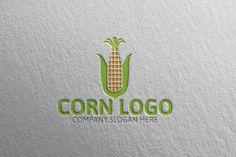Corn Logo by josuf on Creative Market