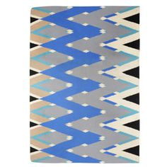 Michelle Mason Zig Zag Blue Rug at Heal's Room London, Small Living Rooms, Laminate Flooring, Zig Zag, Your Space, Healing, Kids Rugs, Pure Products, Kitchen Inspiration