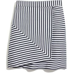 MADEWELL Whit® Bamboo Stripe Mini (243,575 KRW) ❤ liked on Polyvore featuring skirts, mini skirts, bottoms, faldas, saia, navy white, asymmetrical skirt, madewell, wrap front skirt and a line mini skirt