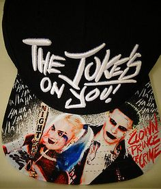 Suicide Squad Harley Quinn Joker The Joke s on You DC Comics Snap Back Hat  Nwt f67fc93131a